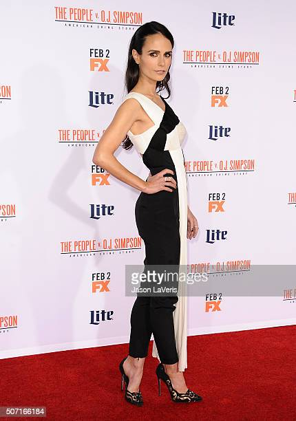 Actress Jordana Brewster attends the premiere of 'American Crime Story The People V OJ Simpson' at Westwood Village Theatre on January 27 2016 in...