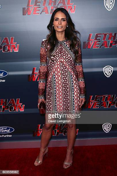 Actress Jordana Brewster attends the premiere of Fox Network's 'Lethal Weapon' at NeueHouse Hollywood on September 12 2016 in Los Angeles California