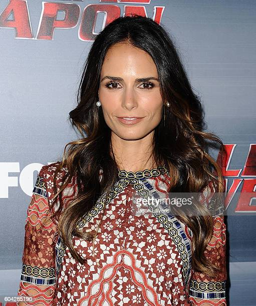 Actress Jordana Brewster attends the premiere of Lethal Weapon at NeueHouse Hollywood on September 12 2016 in Los Angeles California
