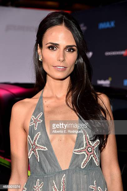 Actress Jordana Brewster attends Universal Pictures' Furious 7 premiere at TCL Chinese Theatre on April 1 2015 in Hollywood California