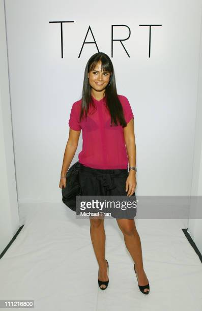 Actress Jordana Brewster front row at TART Spring 2008 collection during Mercedes Benz Fashion Week held at Smashbox Studios on October 17 2007 in...