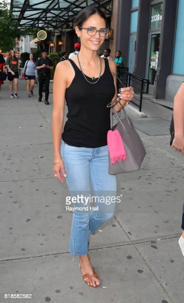 Actress Jordana Brewster is seen walking in Soho on July 18 2017 in New York City