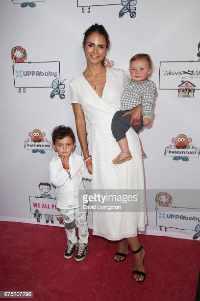 Actress Jordana Brewster Julian BrewsterForm and Rowan BrewsterForm attend the WE ALL PLAY FUNdraiser hosted by the Zimmer Children's Museum at the...