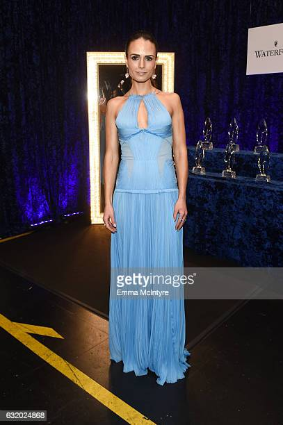 Actress Jordana Brewster poses backstage at the People's Choice Awards 2017 at Microsoft Theater on January 18 2017 in Los Angeles California