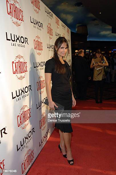 Actress Jordana Brewster poses for photos at the CatHouse grand opening party at Luxor Las Vegas on December 29 2007 in Las Vegas Nevada