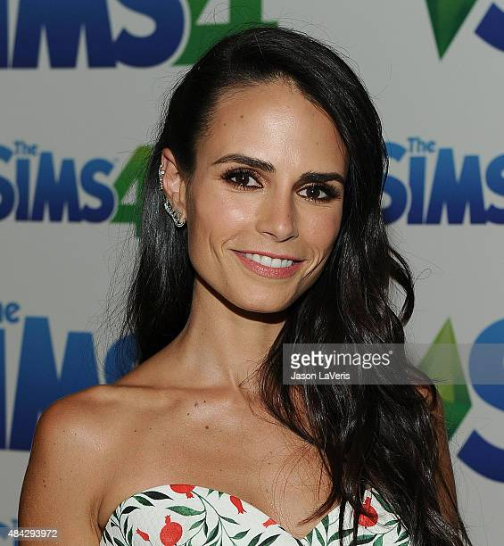 Actress Jordana Brewster poses in the green room at the 2015 Teen Choice Awards at Galen Center on August 16 2015 in Los Angeles California