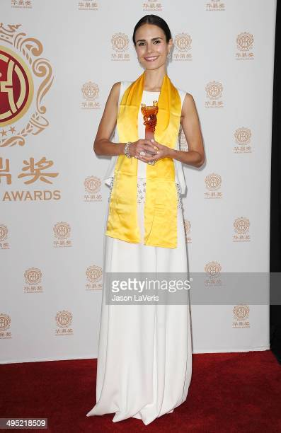 Actress Jordana Brewster poses in the press room at the 2014 Huading Film Awards at The Montalban on June 1 2014 in Hollywood California