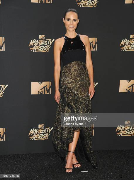 Actress Jordana Brewster poses in the press room at the 2017 MTV Movie and TV Awards at The Shrine Auditorium on May 7 2017 in Los Angeles California