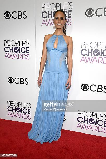 Actress Jordana Brewster poses in the press room during the People's Choice Awards 2017 at Microsoft Theater on January 18, 2017 in Los Angeles,...