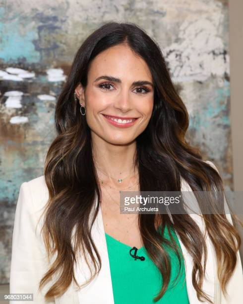 Actress Jordana Brewster visit Hallmark's Home Family at Universal Studios Hollywood on June 5 2018 in Universal City California