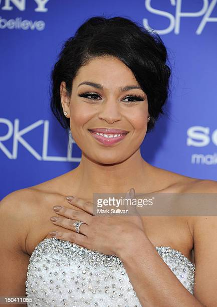 Actress Jordin Sparks arrives for the Los Angeles premiere of 'Sparkle' at Grauman's Chinese Theatre on August 16 2012 in Hollywood California