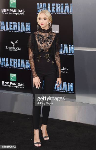 Actress Jordyn Jones arrives at the Premiere Of EuropaCorp And STX Entertainment's 'Valerian And The City Of A Thousand Planets' at TCL Chinese...