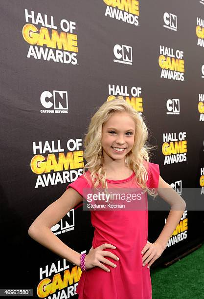 Actress Jordyn Jones attends Cartoon Network's fourth annual Hall of Game Awards at Barker Hangar on February 15 2014 in Santa Monica California