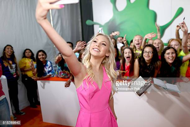 Actress Jordyn Jones attends Nickelodeon's 2016 Kids' Choice Awards at The Forum on March 12 2016 in Inglewood California