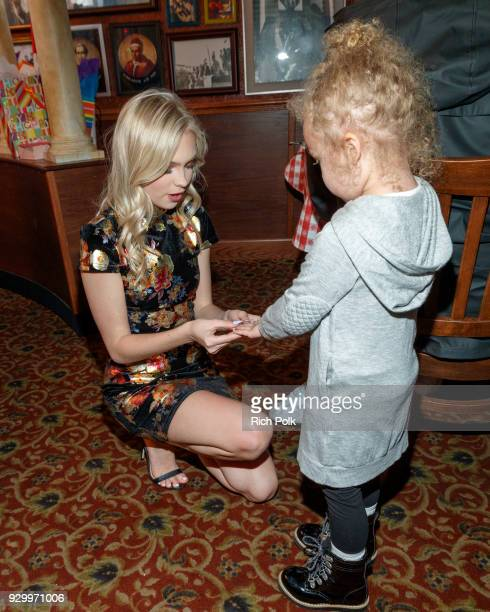 Actress Jordyn Jones celebrates her18th birthday at Buca di Beppo on March 9 2018 in Los Angeles California