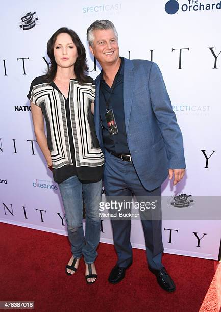 Actress Jorja Fox and producer Alec Pederson attend the world premiere of UNITY at the DGA Theater on June 24 2015 in Los Angeles California