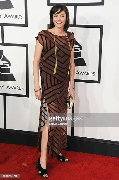 Actress Jorja Fox attends the 56th GRAMMY Awards at Staples Center on January 26 2014 in Los Angeles California