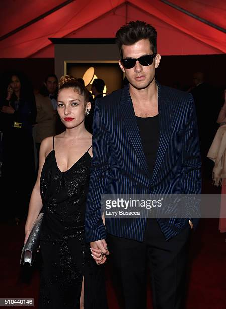 Actress Josephine de la Baume and producer Mark Ronson attend The 58th GRAMMY Awards at Staples Center on February 15 2016 in Los Angeles California