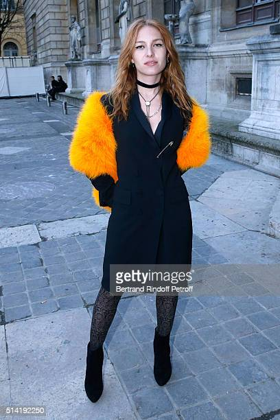 Actress Josephine de La Baume attends the Sonia Rykiel show as part of the Paris Fashion Week Womenswear Fall/Winter 2016/2017 on March 7 2016 in...