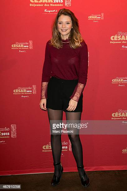 Actress Josephine Japy attends the Nominee luncheon photocall at Le Fouquet's on February 7 2015 in Paris France