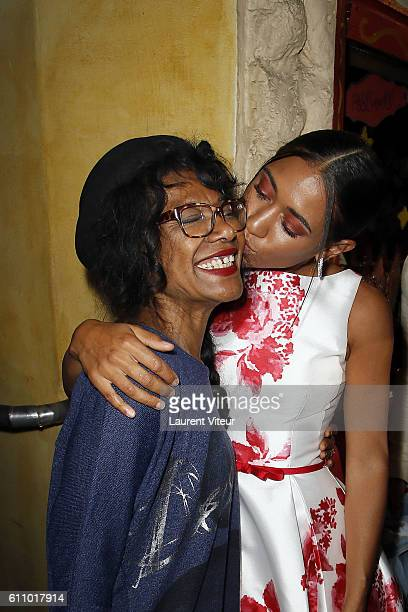 Actress Josephine Jobert and her mother Veronique MucretRouveyrollis attend the Christophe Guillarme show as part of the Paris Fashion Week...