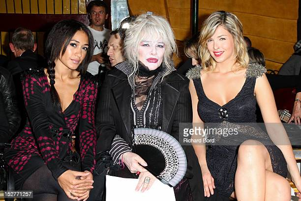 Actress Josephine Jobert Armande Altai and TV Presenter Eleonor Boccara attend the Christophe Guillarme Spring / Summer 2013 show as part of Paris...