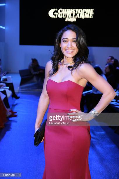 Actress Josephine Jobert attends the Christophe Guillarme show as part of the Paris Fashion Week Womenswear Fall/Winter 2019/2020 on February 27 2019...