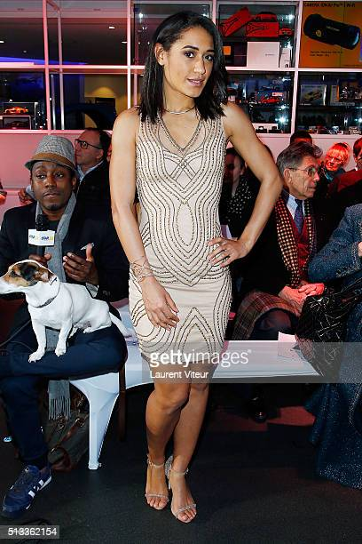 Actress Josephine Jobert attends the Christophe Guillarme show as part of the Paris Fashion Week Womenswear Fall/Winter 2016/2017 at Pub Renault on...