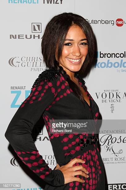 Actress Josephine Jobert poses before the Christophe Guillarme Spring / Summer 2013 show as part of Paris Fashion Week at Balajo on September 25 2012...