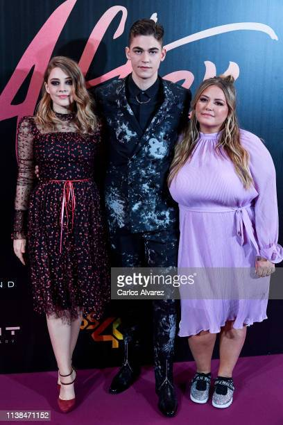 Actress Josephine Langford actor Hero Fiennes Tiffin and author Anna Todd attend 'After Aqui Empieza Todo' premiere at the Capitol cinema on March 26...