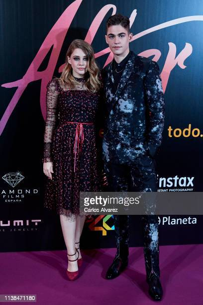 Actress Josephine Langford and actor Hero Fiennes Tiffin attend 'After Aqui Empieza Todo' premiere at the Capitol cinema on March 26 2019 in Madrid...