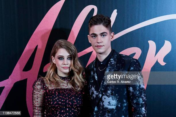 Actress Josephine Langford and actor Hero Fiennes Tiffin attend 'After Aqui Empieza Todo' premiere at the Capitol cinema March 26 2019 in Madrid Spain