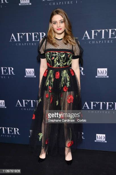Actress Josephine Langford attends the After Photocall at Hotel Royal Monceau Raffle on April 01 2019 in Paris France