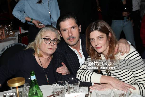 Actress Josiane Balasko, Actor Melvil Poupaud and Actress Chiara Mastroianni attend the Cesar 2020 - Nominee Luncheon At Le Fouquet's on February 09,...
