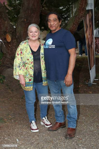 """Actress Josiane Balasko and her husband George Aguilar attend the """"La Piece rapportee"""" Photocall at 13th Angouleme French-Speaking Film Festival on..."""