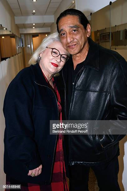 Actress Josiane Balasko and her husband George Aguilar attend the 'Vivement Dimanche' French TV Show at Pavillon Gabriel on December 15 2015 in Paris...