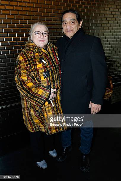 Actress Josiane Balasko and her husband George Aguilar attend the Jean Paul Gaultier Haute Couture Spring Summer 2017 show as part of Paris Fashion...