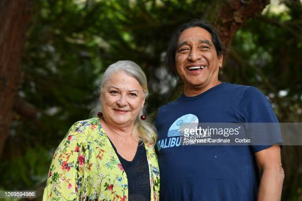 """Actress Josiane Balasko and husband George Aguilar attend the """"La Piece Rapportee"""" Photocall at 13th Angouleme French-Speaking Film Festival on..."""