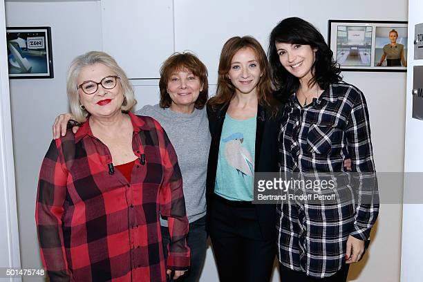 Actress Josiane Balasko Director Diane Kurys Actresses Sylvie testud and Zabou Breitman present the Movie 'Arrete ton cinéma ' during the 'Vivement...