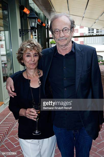 Actress Josiane Stoleru and Actor Patrick Chesnais attend the Hotel Normandy ReOpening at Hotel Normandy on June 18 2016 in Deauville France