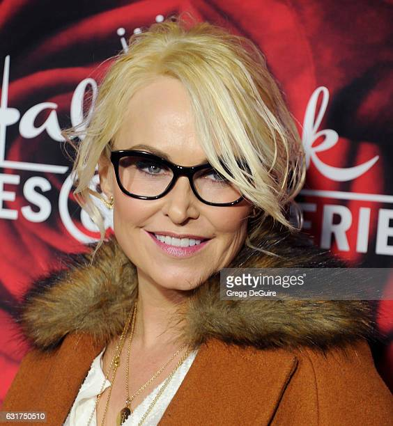 Actress Josie Bissett arrives at Hallmark Channel And Hallmark Movies And Mysteries Winter 2017 TCA Press Tour at The Tournament House on January 14...