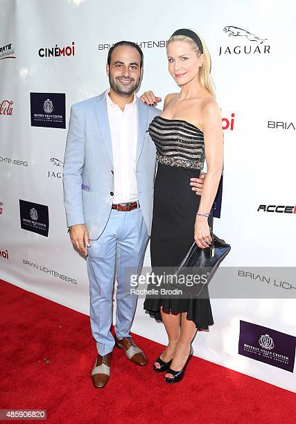 Actress Josie Davis and Dr Ben Talei attend the Accelerate4Change charity event presented by Dr Ben Talei Cinemoi on August 29 2015 in Beverly Hills...