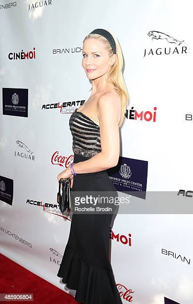 Actress Josie Davis attends the Accelerate4Change charity event presented by Dr Ben Talei Cinemoi on August 29 2015 in Beverly Hills California