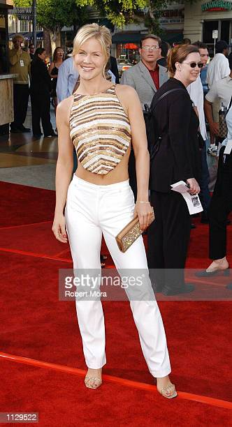 Actress Josie Davis attends the world premiere of K19 The Widowmaker at the Mann Village Bruin Theatres on July 15 2002 in Westwood California The...