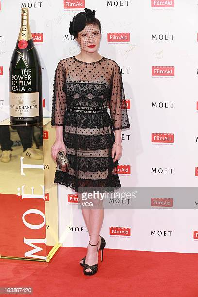 Actress Josie Ho attends at the Moet Chandon and FilmAid Asia Power of Film Gala at Clear Water Bay Film Studios on March 16 2013 in Hong Kong Hong...