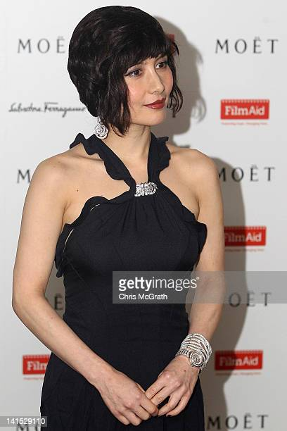 Actress Josie Ho poses on arrival at the Power of Film Gala at the Grand Hyatt Hong Kong's Grand Ballroom on March 18 2012 in Hong Kong Hong Kong The...