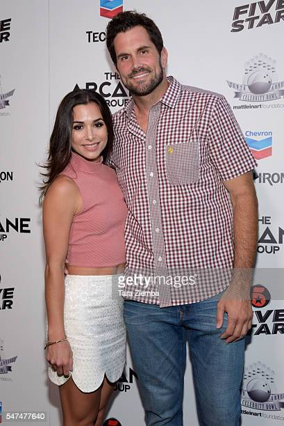 Actress Josie Loren and Matt Leinart attend the 10th Annual Celebrity Bowl For Charity at Lucky Strike Lanes on July 14 2016 in Hollywood California