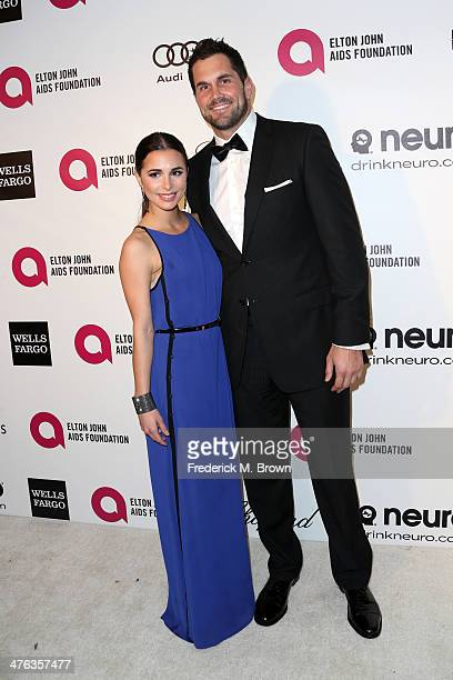Actress Josie Loren and pro athelete Matt Leinart and xxx attends the 22nd Annual Elton John AIDS Foundation's Oscar Viewing Party on March 2 2014 in...