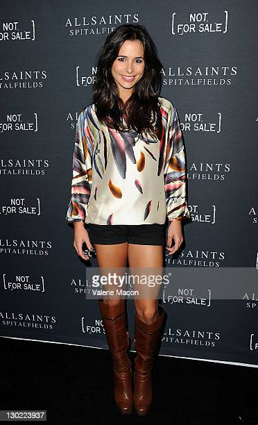 Actress Josie Loren arrives at AllSaints Spitalfields 'Not For Sale' TShirt Collection Launch Party on October 24 2011 in Los Angeles California