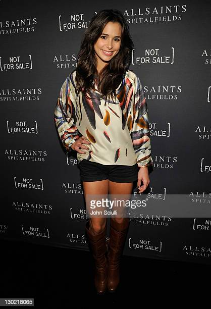 Actress Josie Loren attends AllSaints And Not For Sale Hollywood Launch at the Music Box Theatre on October 24 2011 in Hollywood California